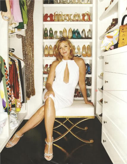 Celebrity shoe closets - Kim cattral shoe closet